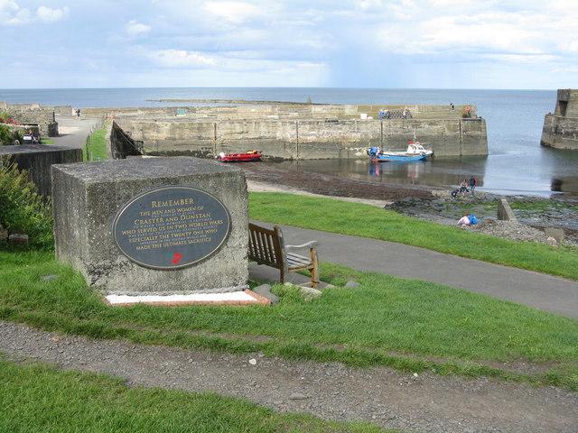 Craster Harbour and War Memorial