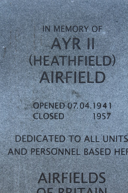 In Memory of Heathfield Airfield