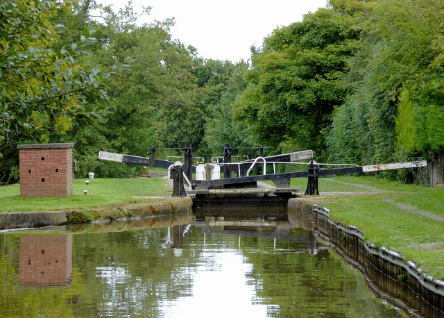 Baddiley No 2 Lock near Wrenbury Heath, Cheshire