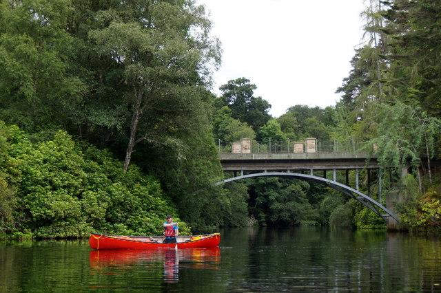 The bridge to Eileanaigas House