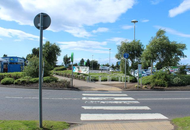 Pedestrian Crossing at Asda, Ayr
