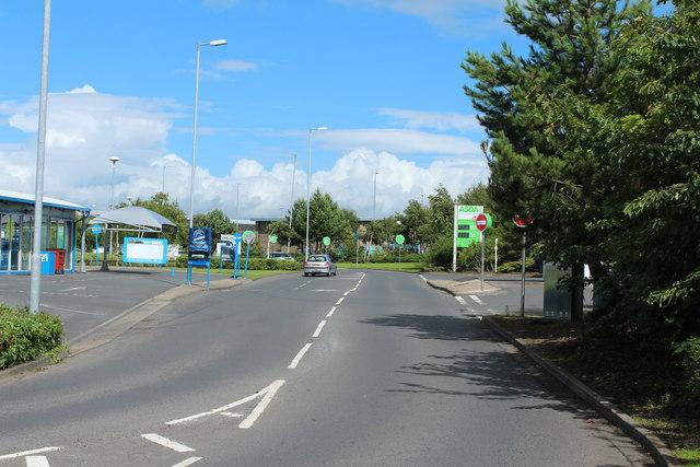 Exit Road from Asda, Ayr