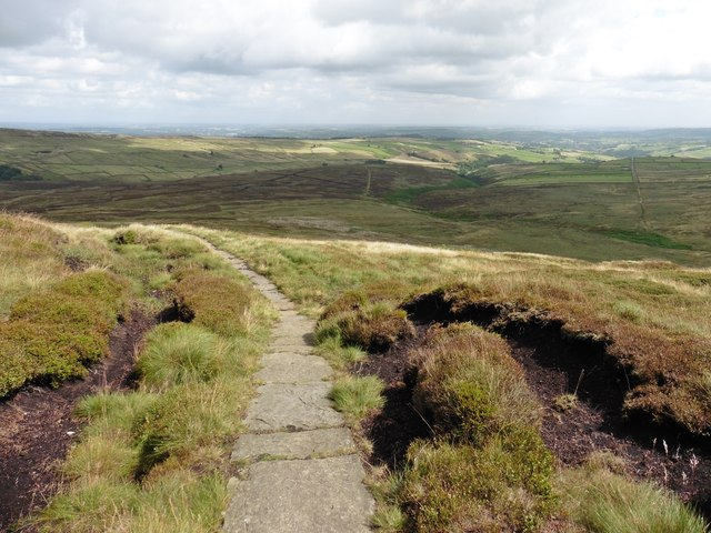 The Pennine Way, below Black Dike Head