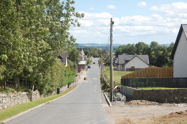 Road into Daviot village