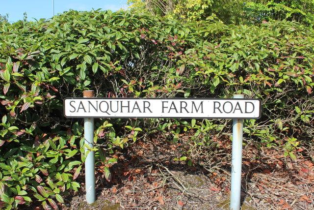 Sanquhar Farm Road Sign, Ayr