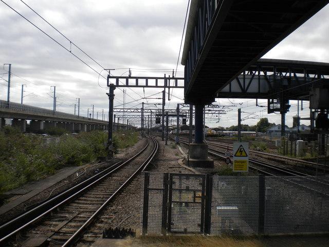 Railway east of Ashford International station