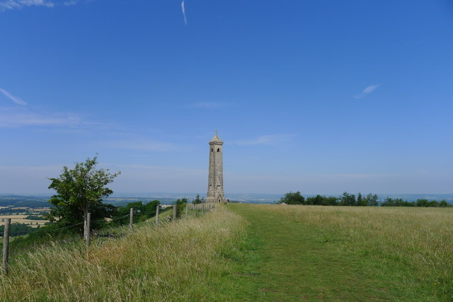 The Cotswold Way approaching the Tyndale Monument