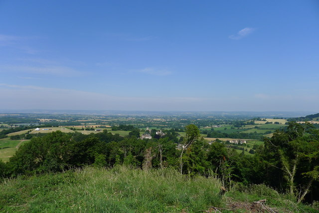 View over North Nibley from the Tyndale Monument on Nibley Knoll
