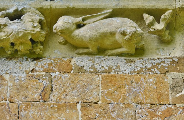 Hanwell, St. Peter's Church: South frieze, ca. 1340: A hare