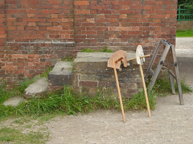 A mounting block for dobby-horses!