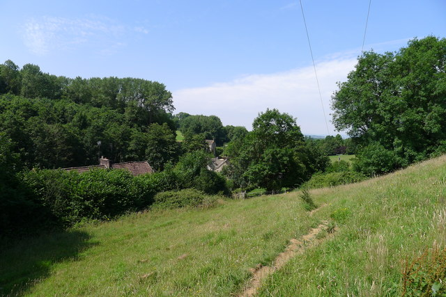 The Cotswold Way above Ivy Cottages
