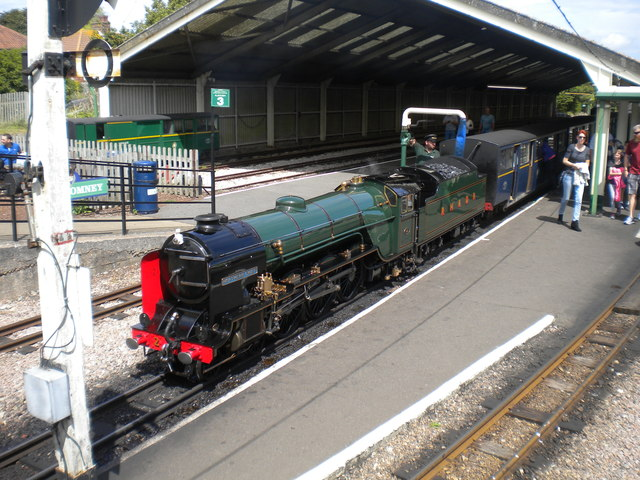 Dungeness train at New Romney station