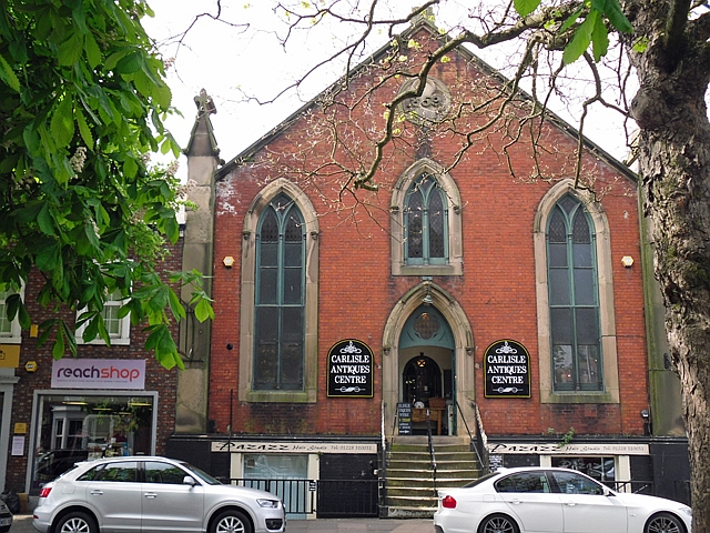 Antiques centre in a converted church