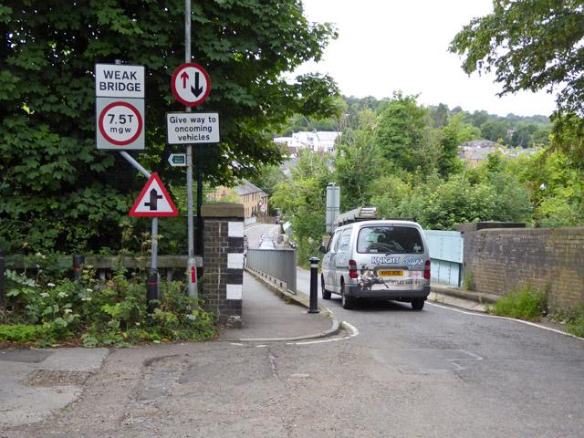 Gravel Path, weak bridge over railway