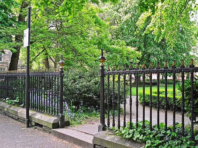 Railings, Portland Square Gardens