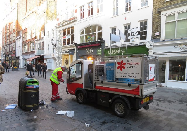 Cleaning South Molton Street