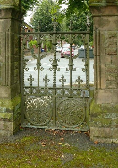 Main gates, Park Cemetery, Ilkeston