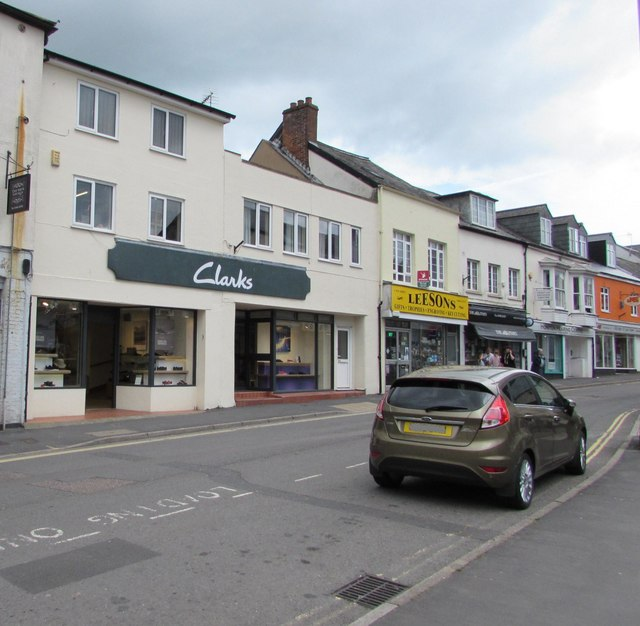 Clarks shoe shop in Honiton