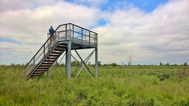 Viewing platform on Thorne Waste or Moors