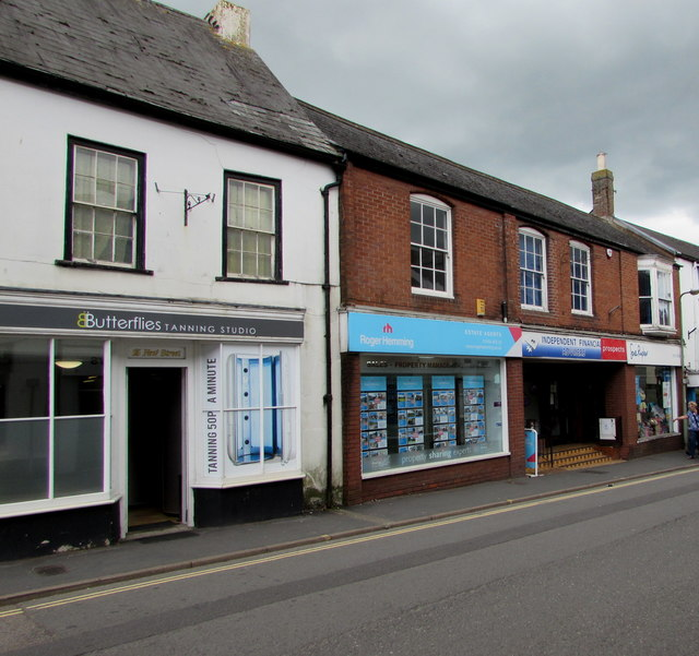 New Street shops and other businesses, Honiton