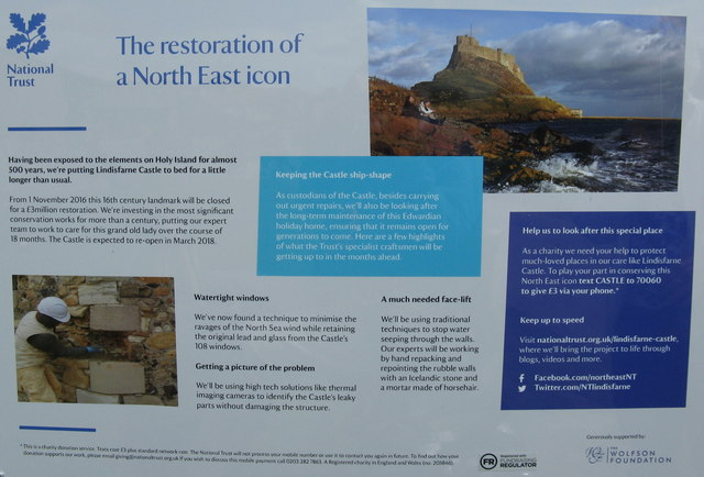 The restoration of Lindisfarne Castle