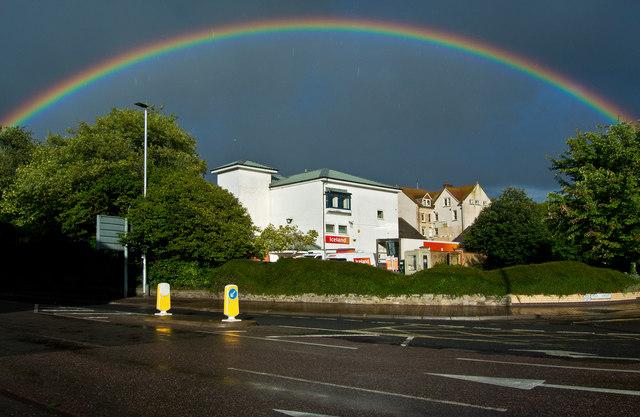 A rainbow over Iceland