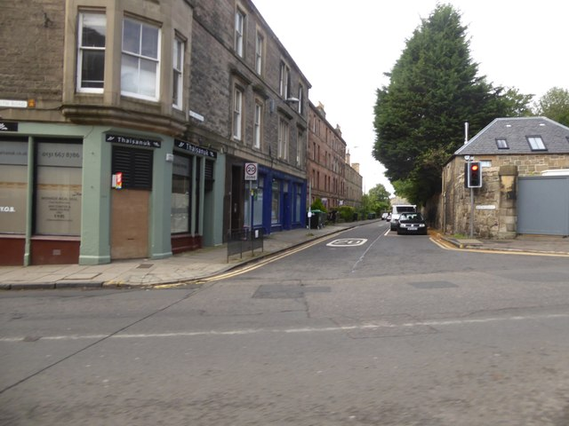 East Mayfield, a residential road off Dalkeith Road