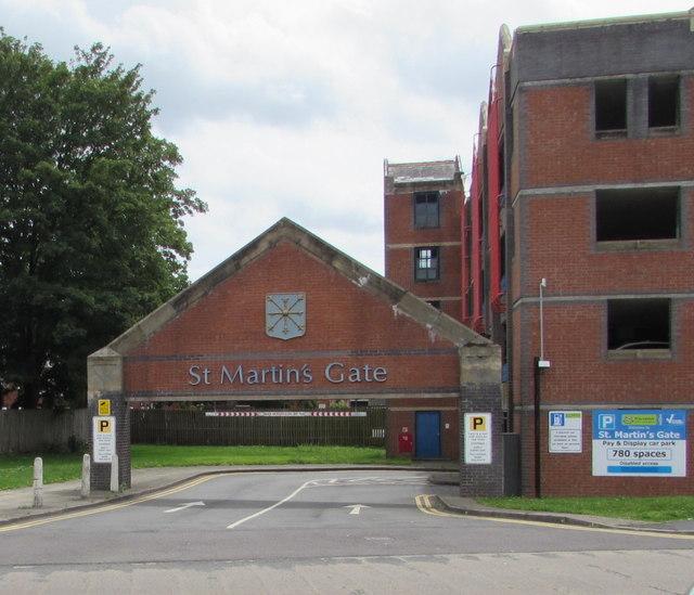 Entrance to St Martin's Gate multistorey car park, Worcester