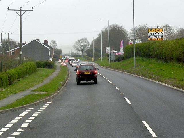 A483 near Llanllwchaiarn