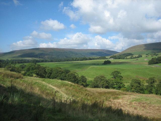 Staple Oak Fell and the Hodder valley