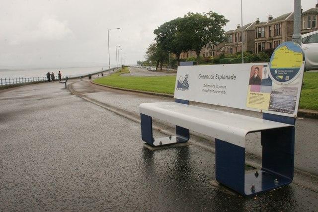An informative seat, Greenock Esplanade