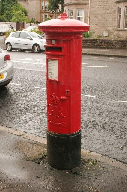 George V pillar box, Eldon Street, Greenock