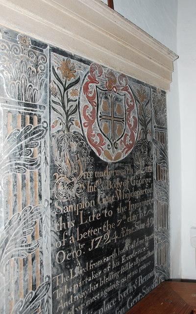 George Sampson memorial, All Saints' Church, Lopen