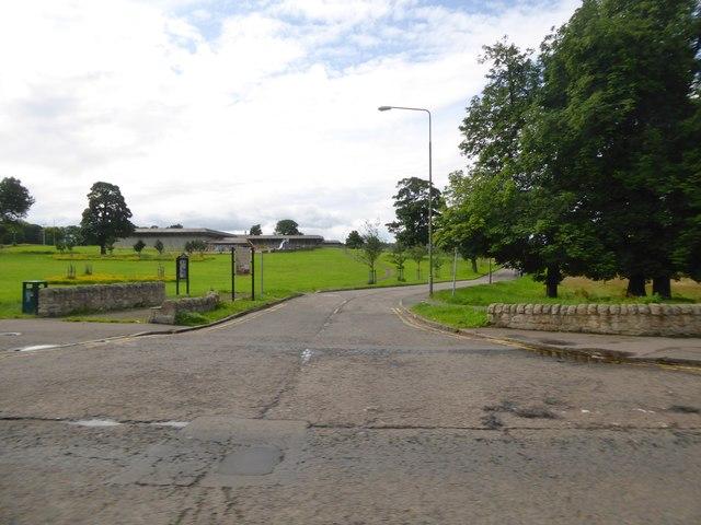 Entrance to Jack Kane Centre and Hunter's Hall Park