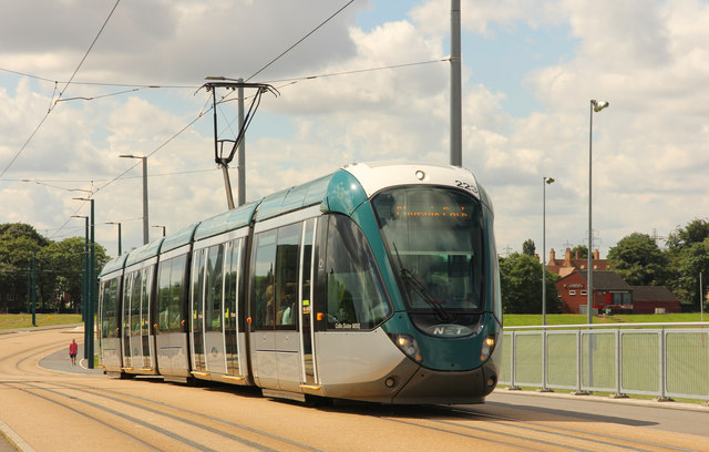 Tram on Wilford Bridge