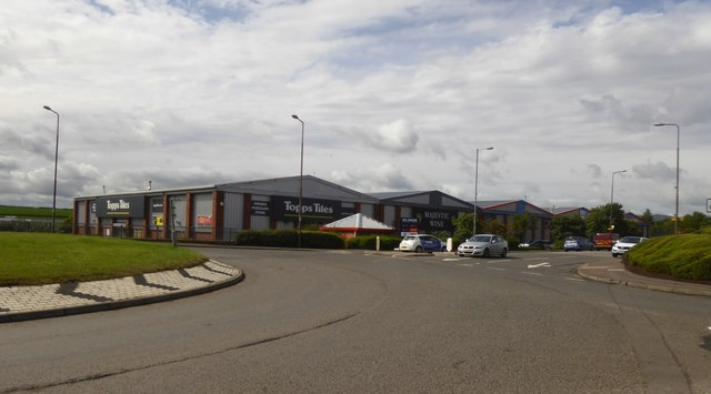 A block of shops at Fort Kinnaird retail park