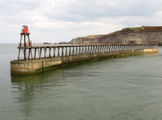 The eastern breakwater in Whitby