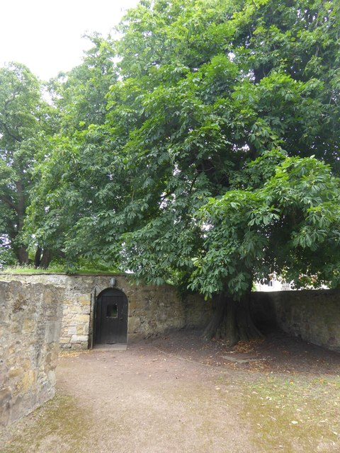 The door of the servants' tunnel, Newhailes