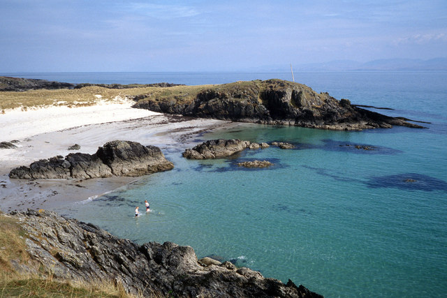 A swim at Cable Bay, Colonsay