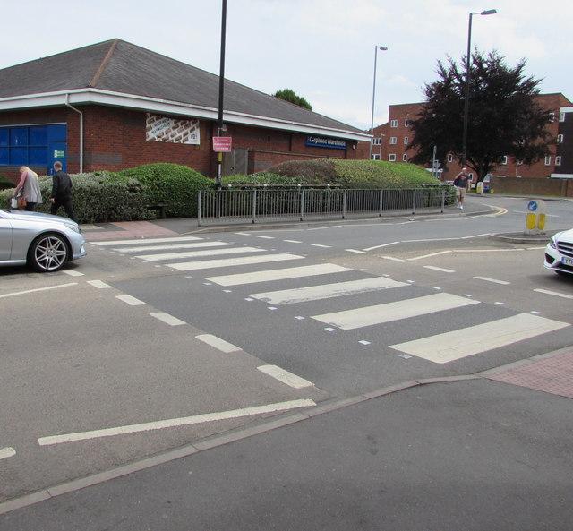 Zebra crossing to Carphone Warehouse, Worcester