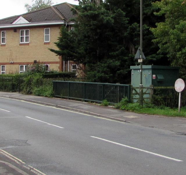 Gauging station above Monks Brook, Chandler's Ford