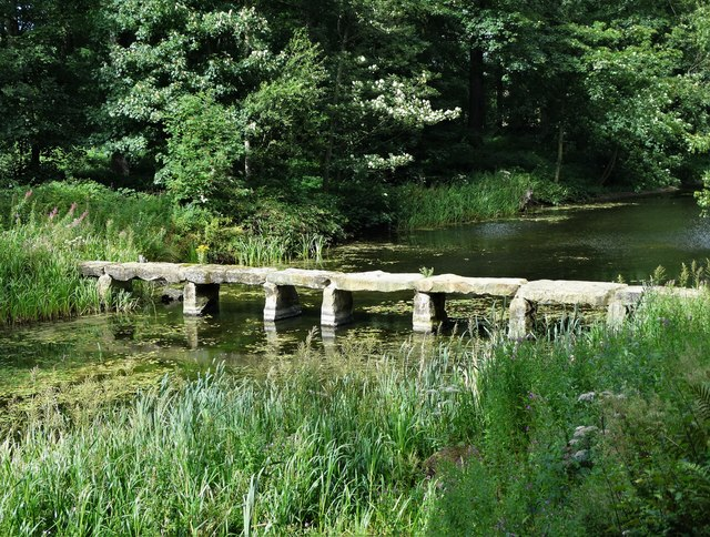 Druid's Bridge in the grounds of Nostell Priory