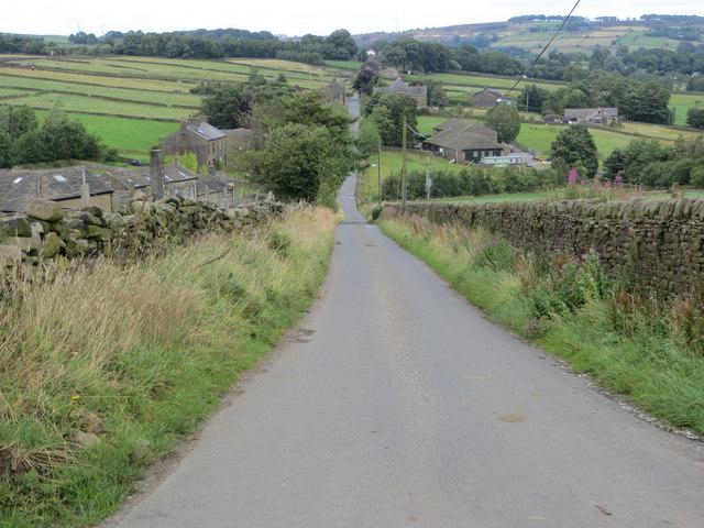 Outside Lane near Stairs Bottom Farm