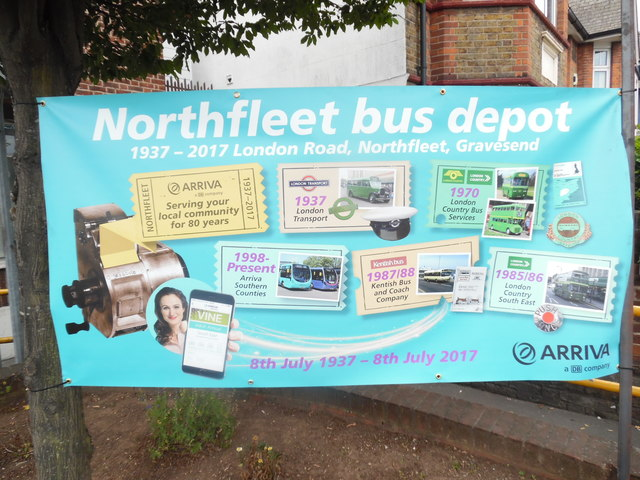 Poster at Northfleet Bus Depot