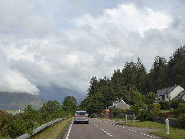 A828 heading towards Ballachulish