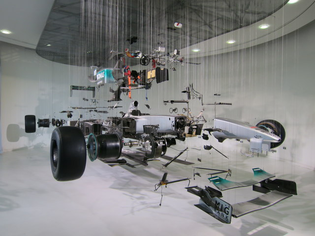 Exploded F1 car, Mercedes World