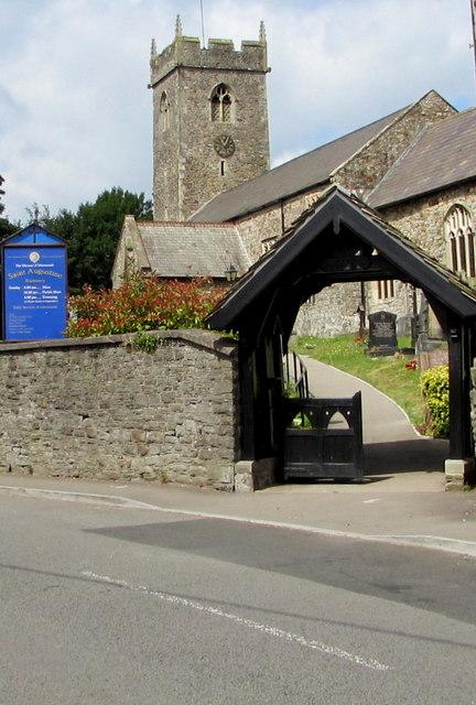 Lychgate facing Church Road, Rumney, Cardiff