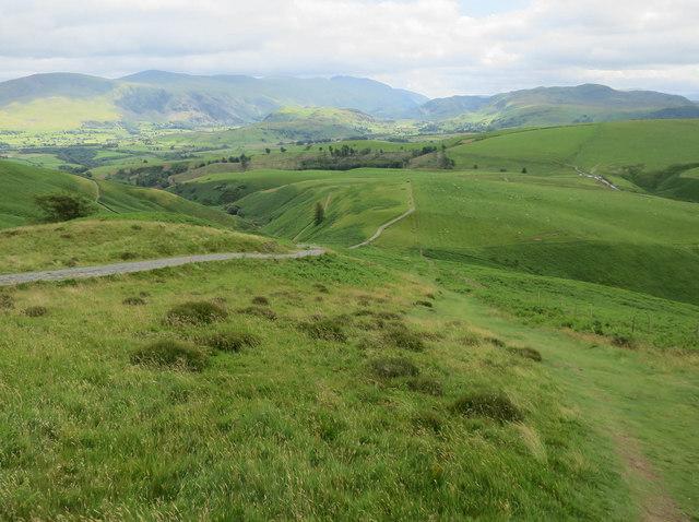 Paths down Skiddaw