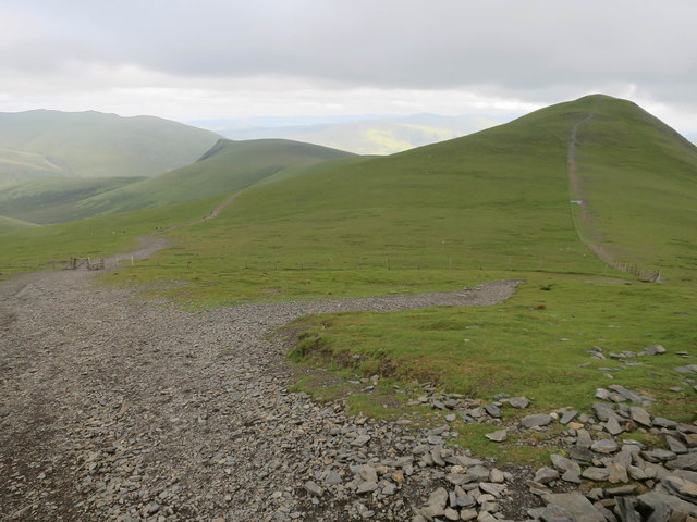Path junction descending Skiddaw