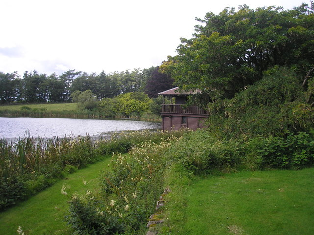Boathouse and pond